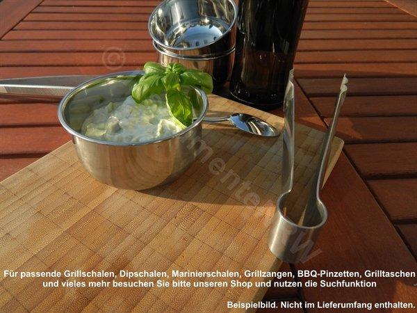 Tropfschale BBQ Grill Edelstahl Marinierschale Dip-Marinade-Schale Tablett